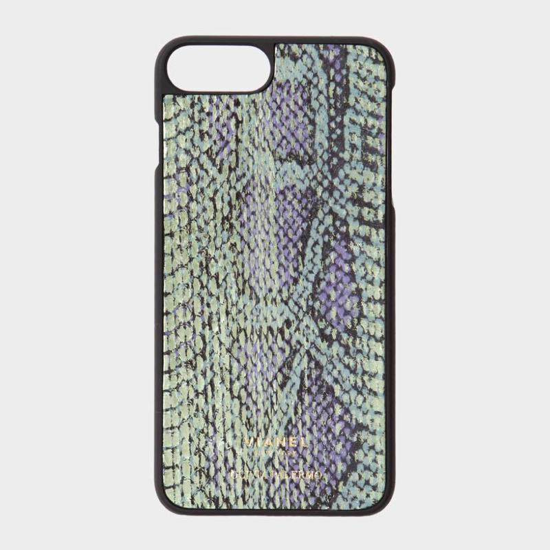 VIANEL NEW YORK iPhone 8Plus/7Plus Case - SNAKE GREEN METALLIC (OLIVIA PALERMO)