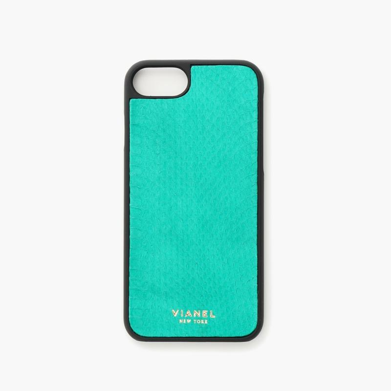 VIANEL NEW YORK - iPhone 8/7 Case - Snakeskin Green