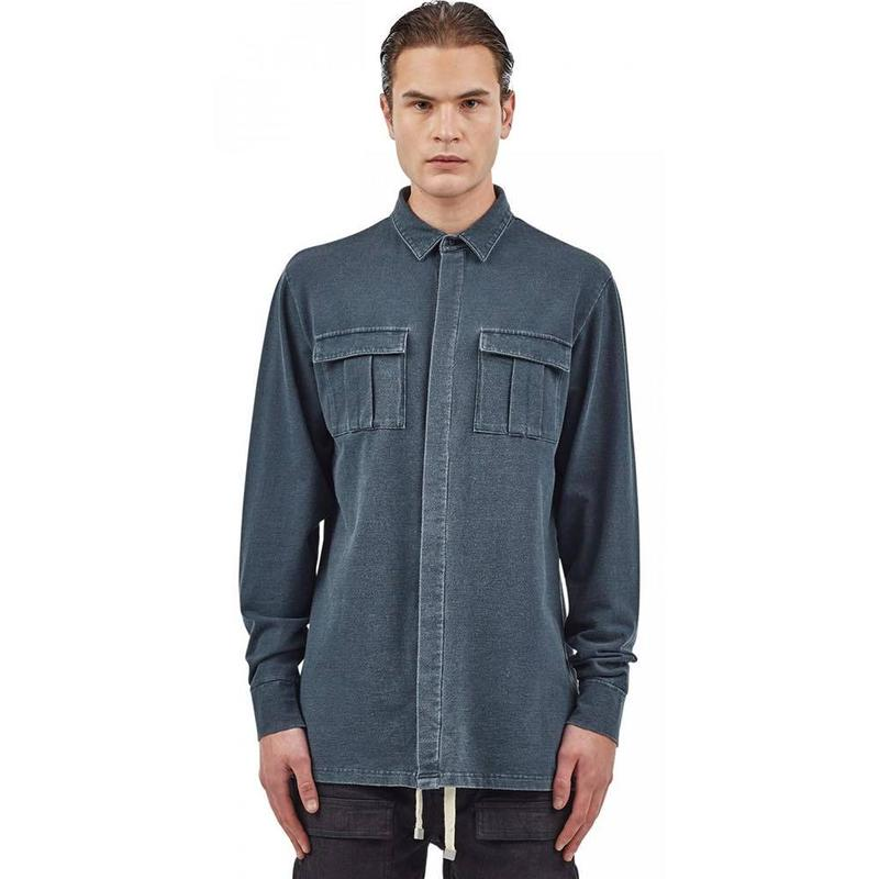 I LOVE UGLY / OSBOURNE OVERSHIRT - GREY