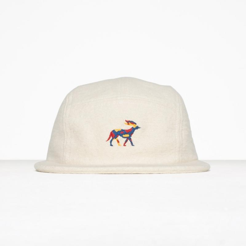 by Parra / 5 PANEL VOLLEY HAT RETIRED RACER - NATURAL FLANNEL