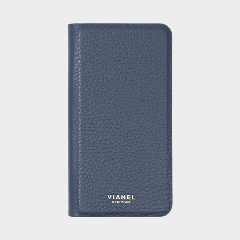 VIANEL NEW YORK - Folding iPhone 8Plus/7Plus Case - Calfskin Navy