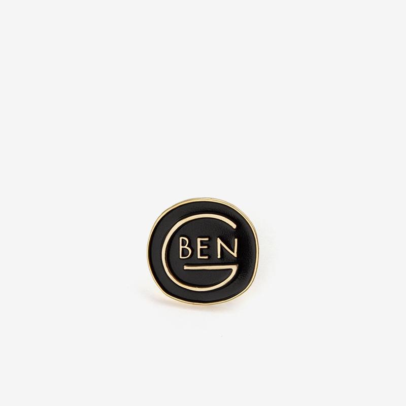 BEN-G / Round Logo Pin - Gold