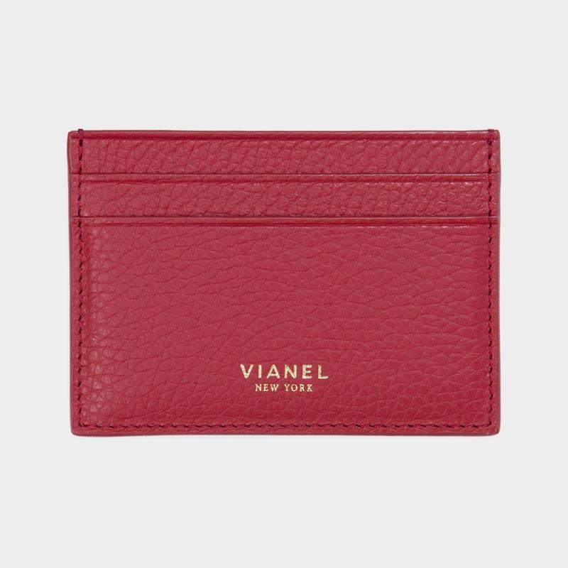 VIANEL NEW YORK V3 CARD HOLDER - CALFSKIN RED
