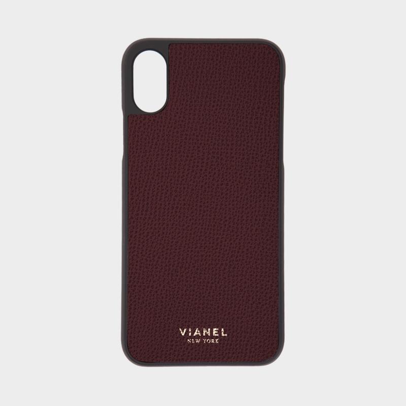 VIANEL NEW YORK iPhone Xs/X Case - CALFSKIN OXBLOOD