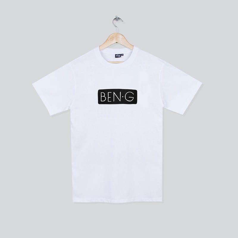 BEN-G / Bar Logo T-Shirt - White