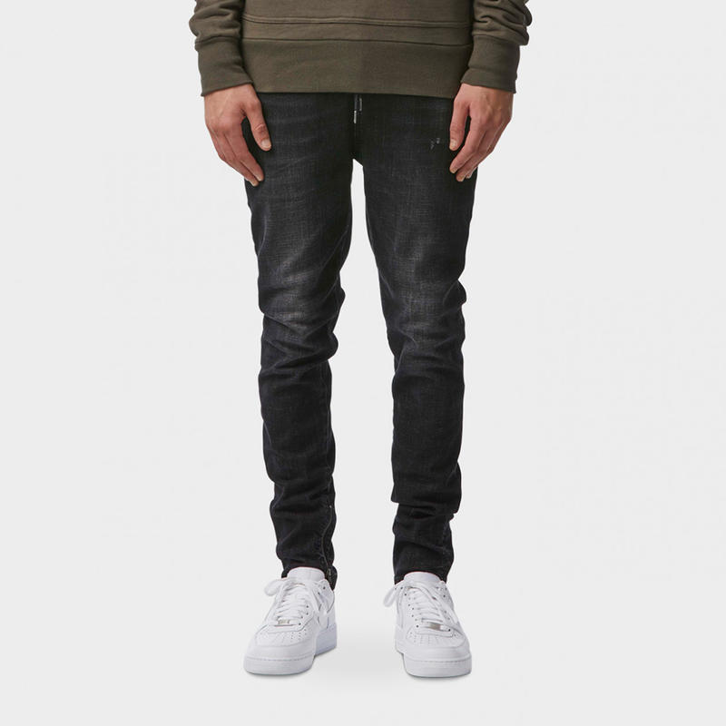 I LOVE UGLY / ZESPY PANT DENIM MID RISE - RINSED BLACK