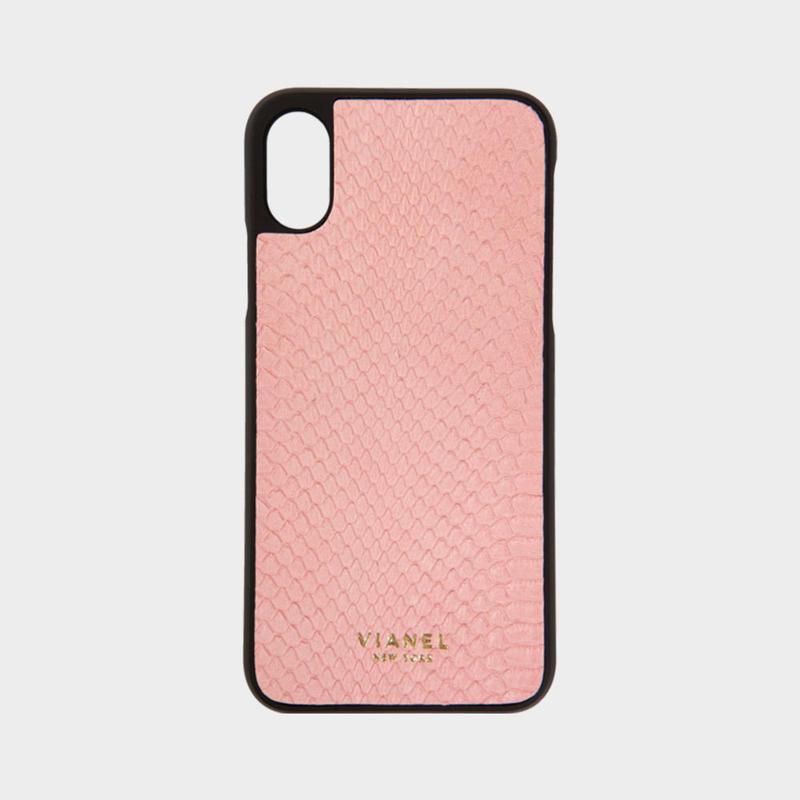 VIANEL NEW YORK iPhone Xs/X Case - SNAKESKIN SALMON