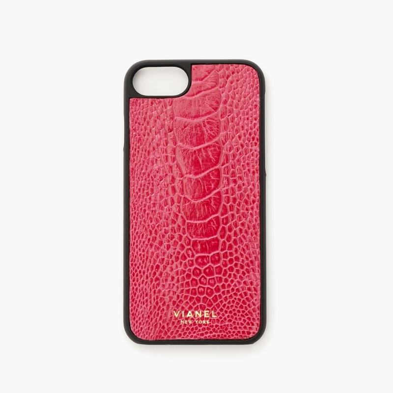 VIANEL NEW YORK - iPhone 8/7 Case - Ostrich Hot Pink