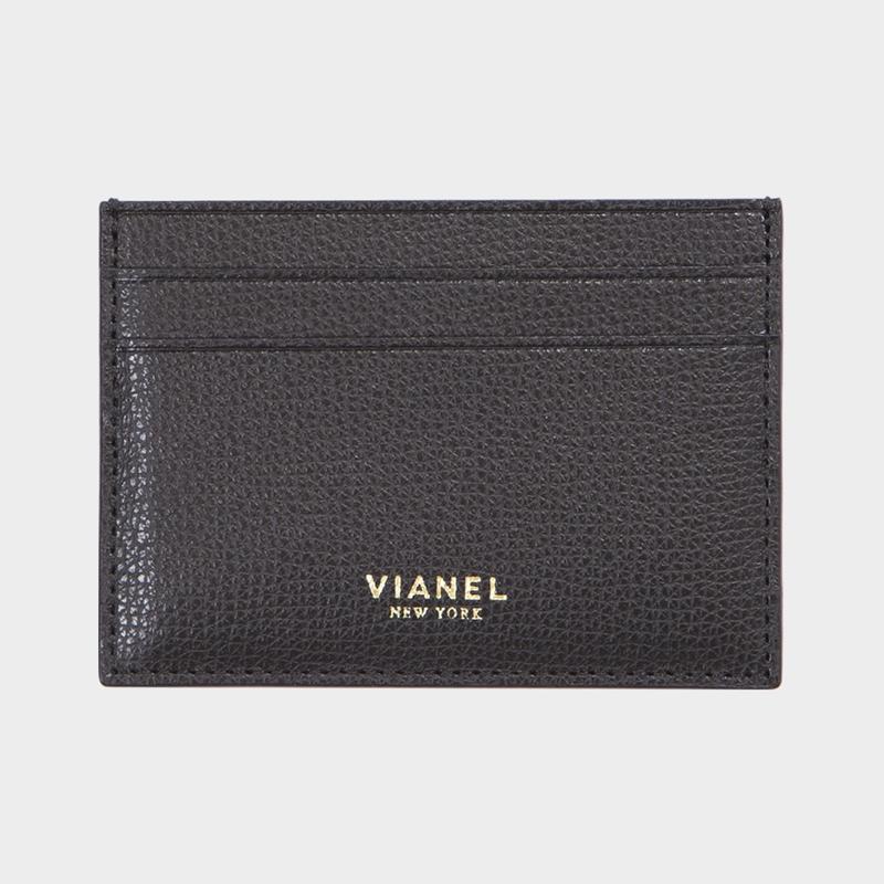 VIANEL NEW YORK V3 CARD HOLDER - CALFSKIN BLACK