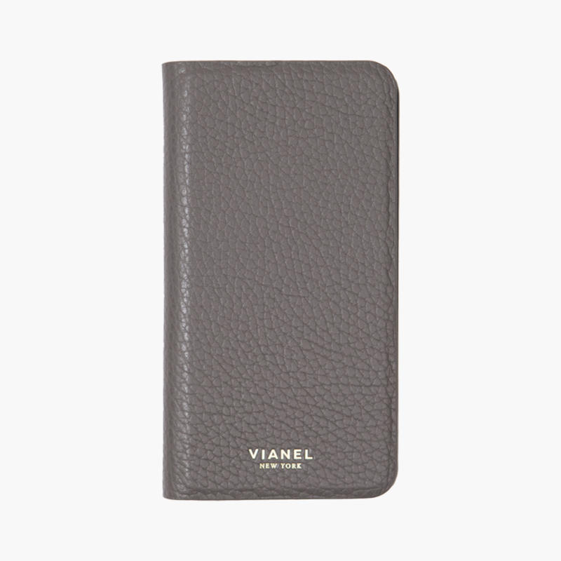 VIANEL NEW YORK - Folding iPhone 8/7 Case - Calfskin Grey