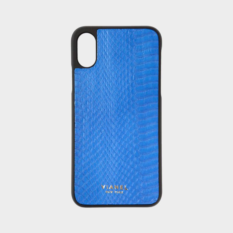VIANEL NEW YORK iPhone Xs/X Case - SNAKESKIN BLUE