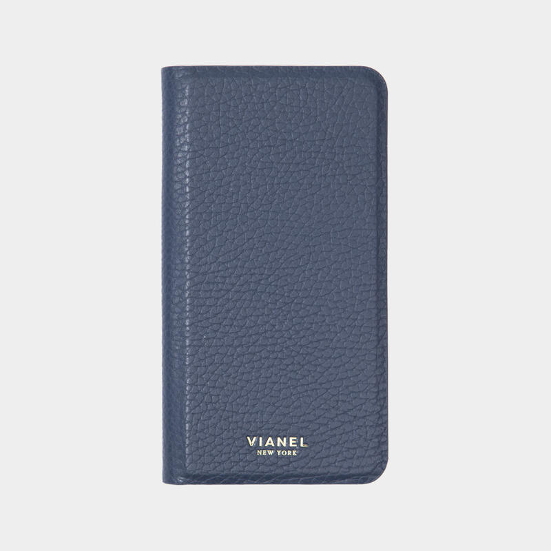 VIANEL NEW YORK - Folding iPhone 8/7 Case - Calfskin Navy
