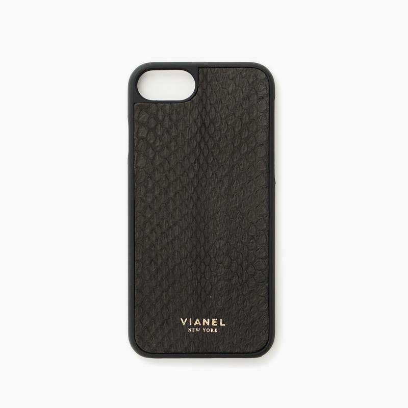 VIANEL NEW YORK - iPhone 8/7 Case - Snakeskin Black