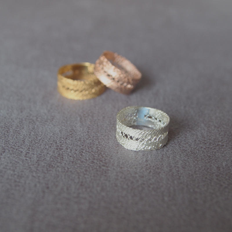 recollection lace ring(M) シルバー
