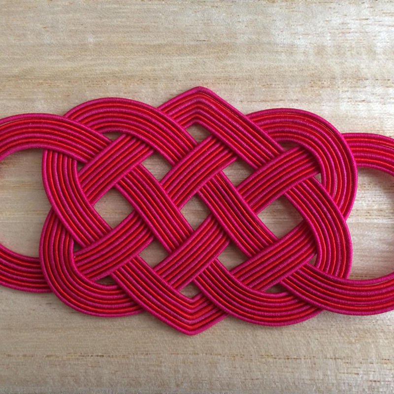 洒落水引 帯締(大)紅薔薇色