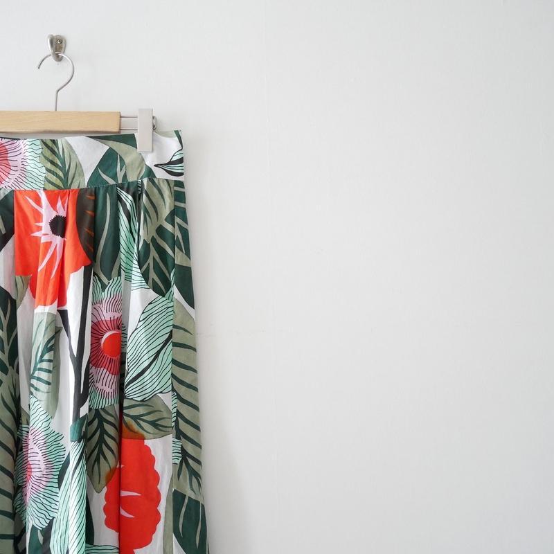2018SS / SPICK&SPAN 購入品 JUPE DE SATIN プリントマキシスカート