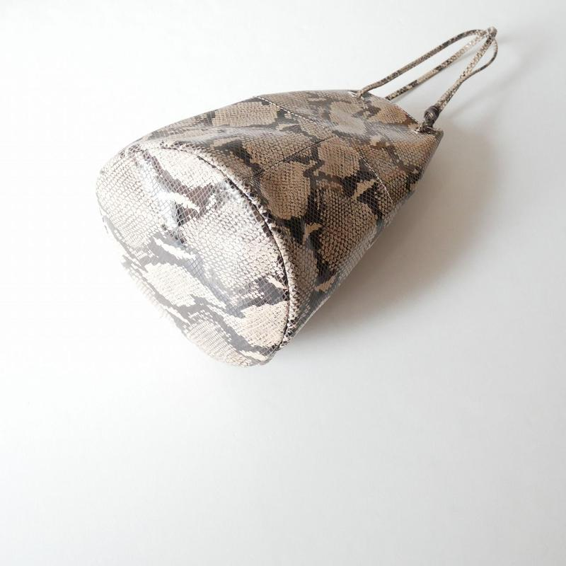 2018 / MARCO MASI パイソン巾着バッグ
