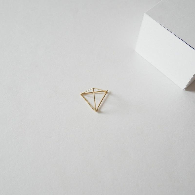 2018 / SIHARA ピアス トライアングル triangle pierce 20mm(片耳用)