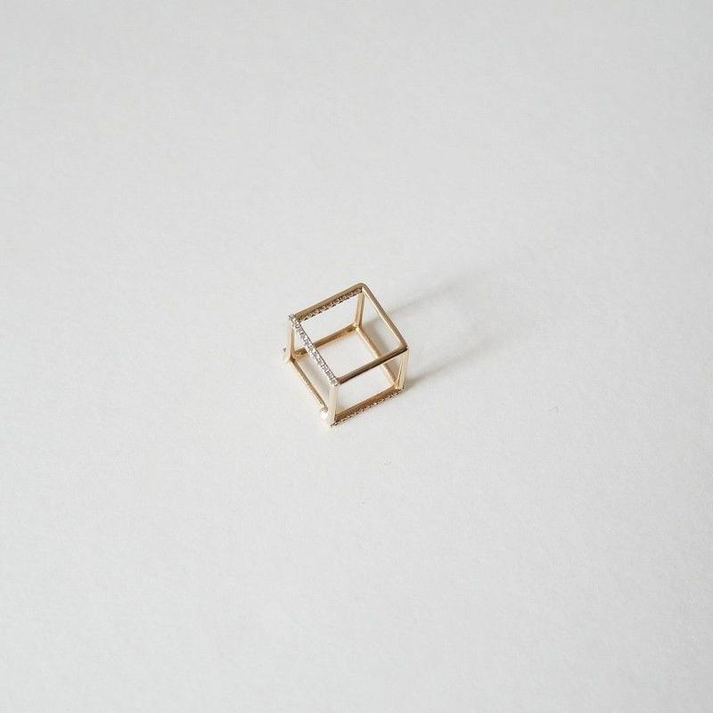 2018 / Shihara ピアス Diamond Square Pierce 10(片耳用)