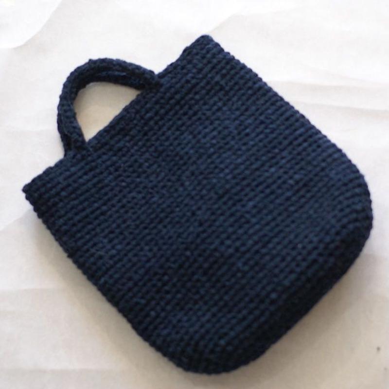 裂き編みバッグ 取り外せるファー付き(トートバッグスタイル)
