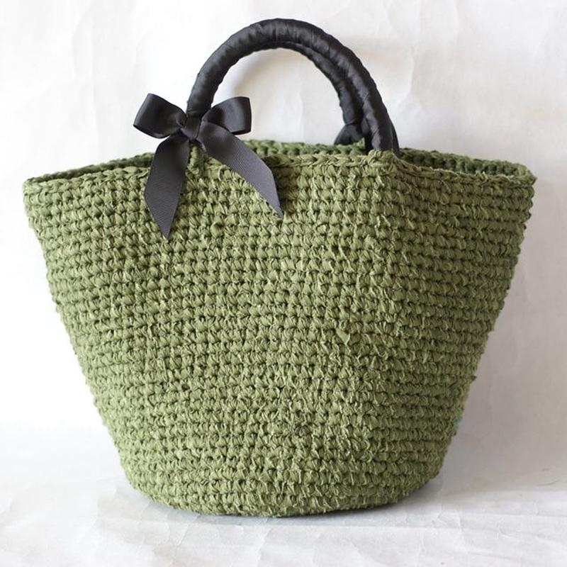 裂き編みバッグ 【リボン取り外し可】