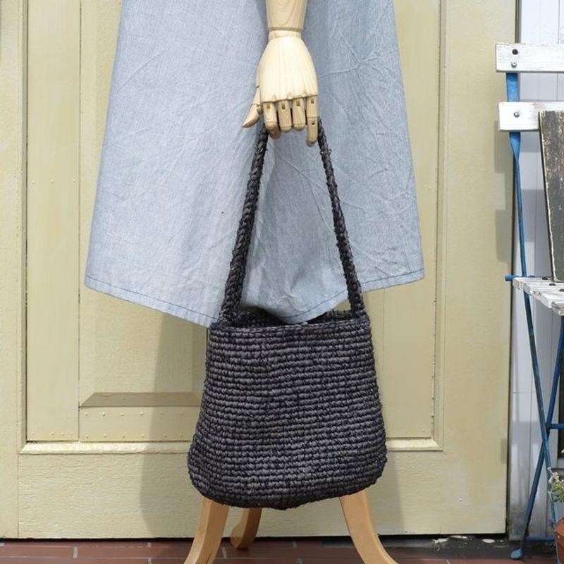 裂き編みバッグ(ワンハンドル、バケツ型)
