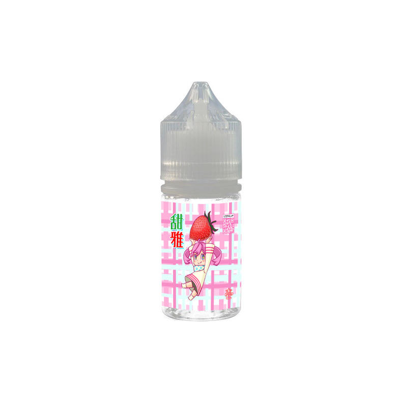 【リキッド】甜雅(てんが)ストロベリーアイスミルク味 30ml【電子タバコ/VAPE】