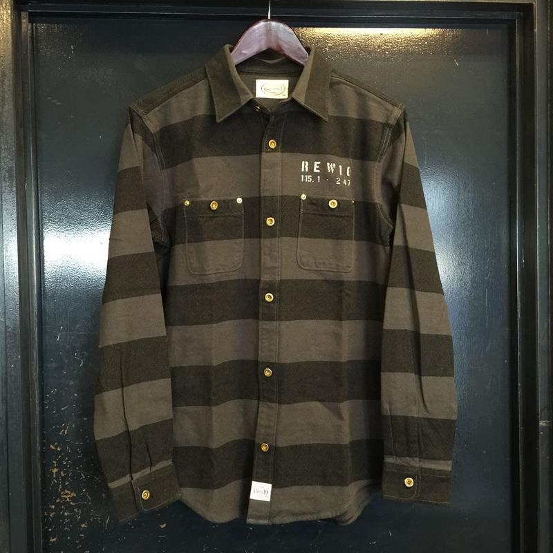 Rew10 Flannel Prisoner Work Shirts Black/Grey (LIMITED)