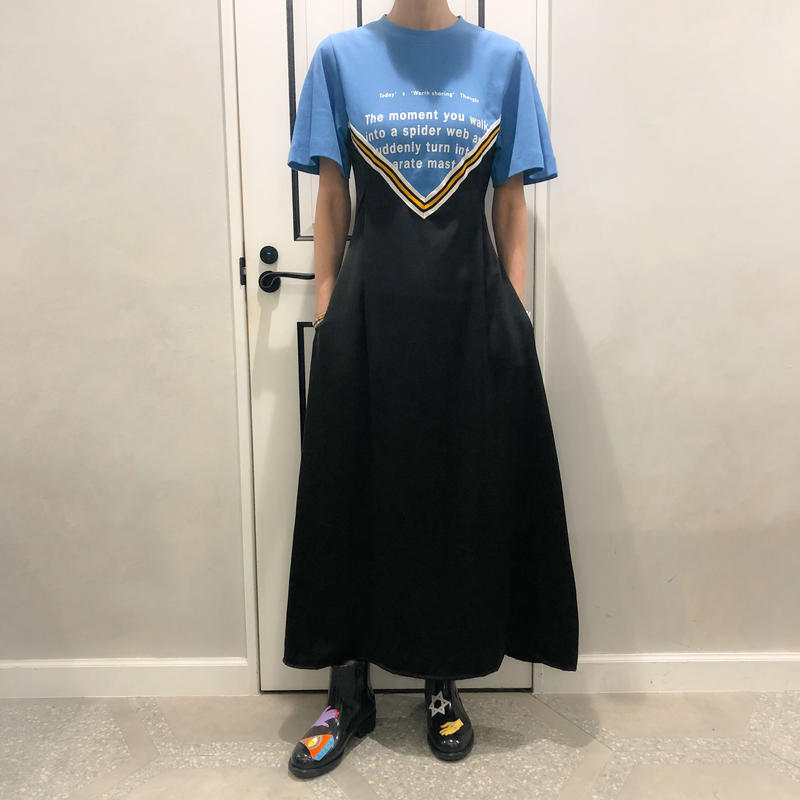 tshirt set onepiece (blue)