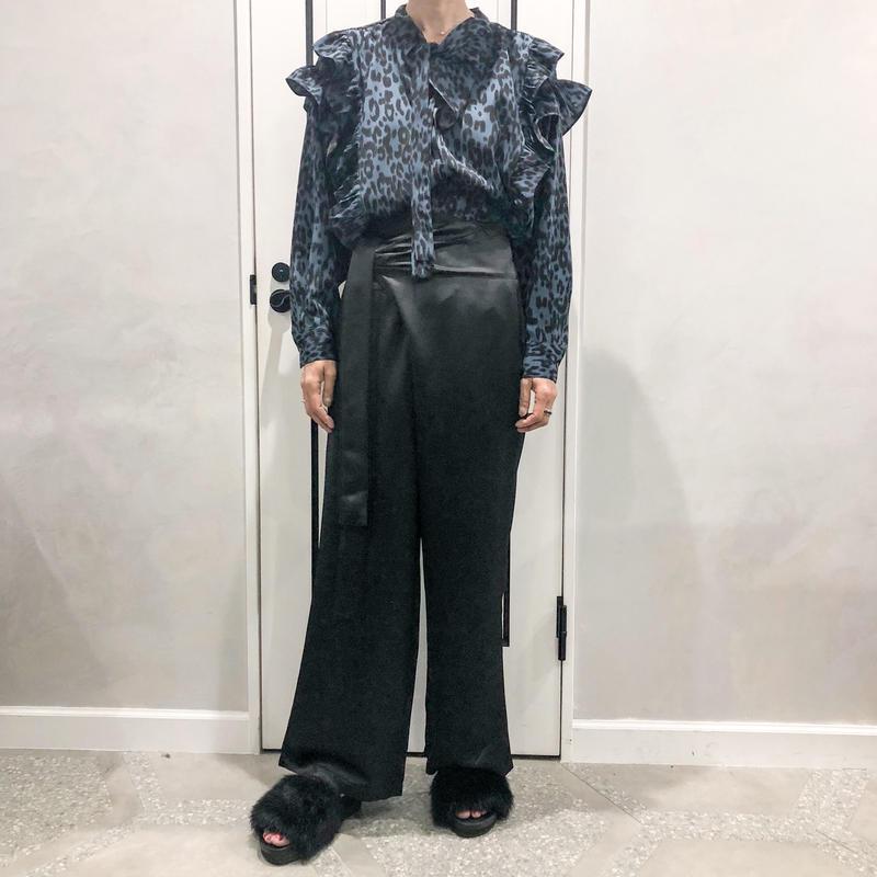 waist rap pants (black)