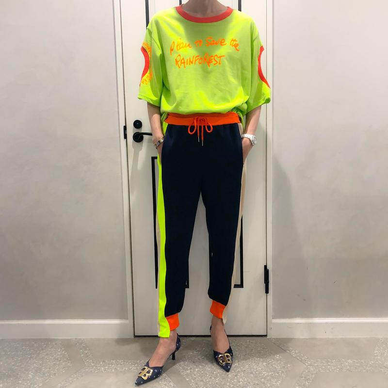 neon color pants (navy)
