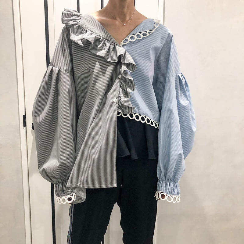 asymmetry big size shirt