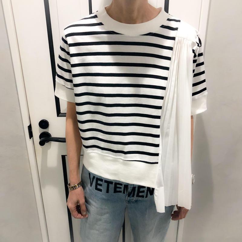 border pleats tshirt