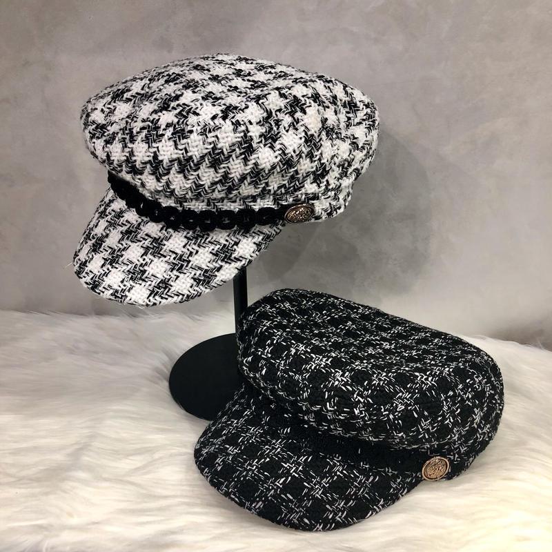 tweed casquette
