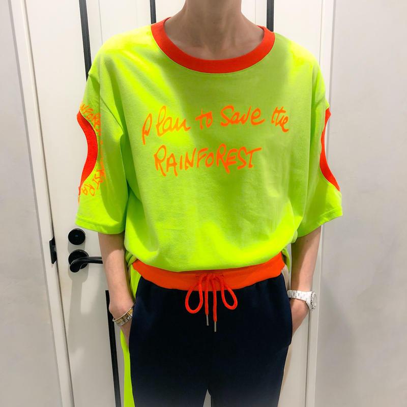 neon color tshirt (lime)