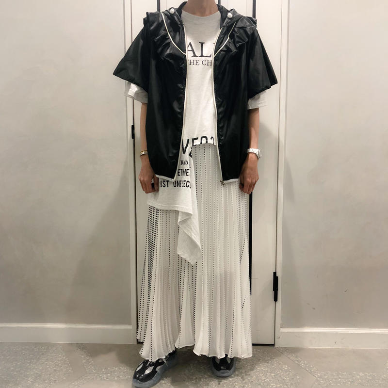 super long pleats skirt