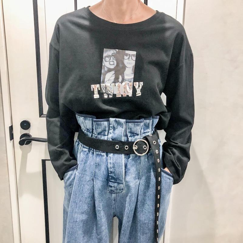 Photo long tshirt (black)