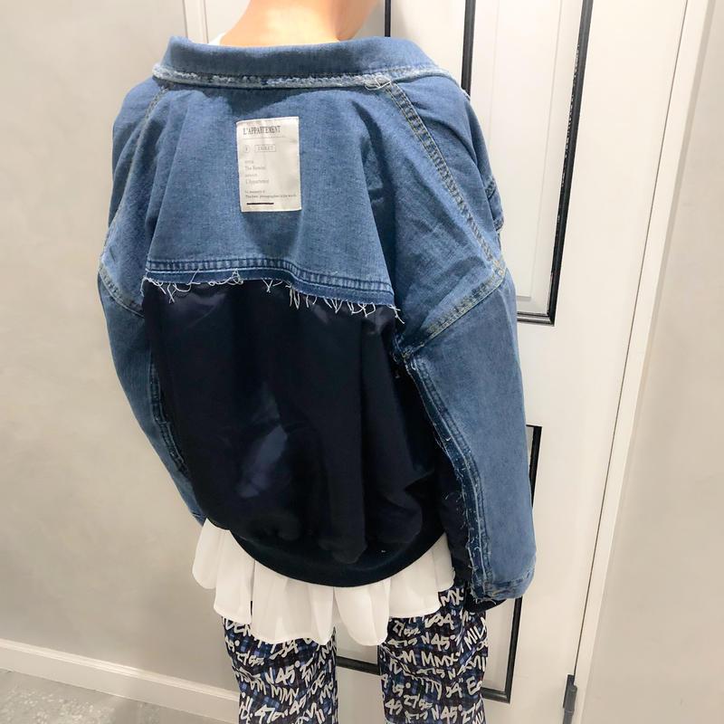 blouson combi denim jacket (blue)