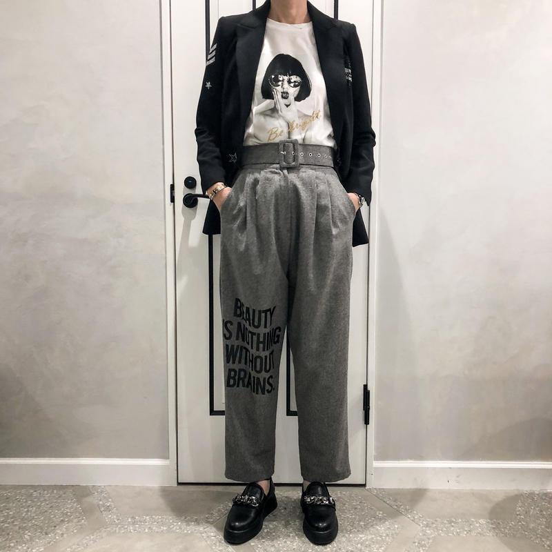 message belt pants