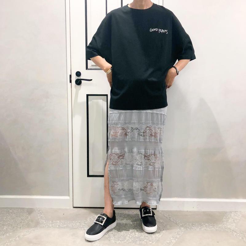 side  slit lace skirt