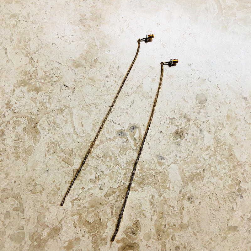 long chain pierce(gold)