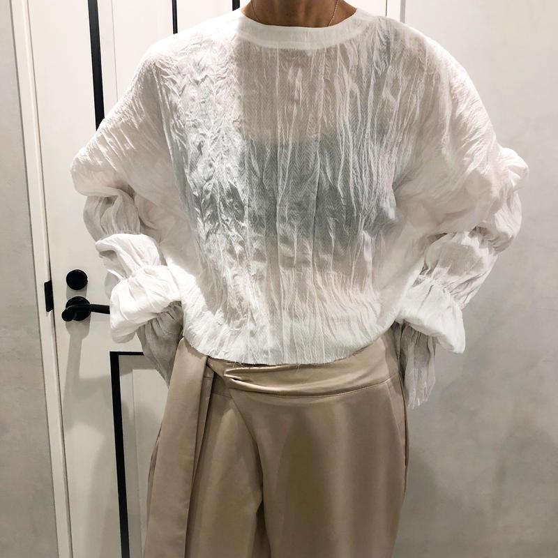 back lace up tshirt (white)