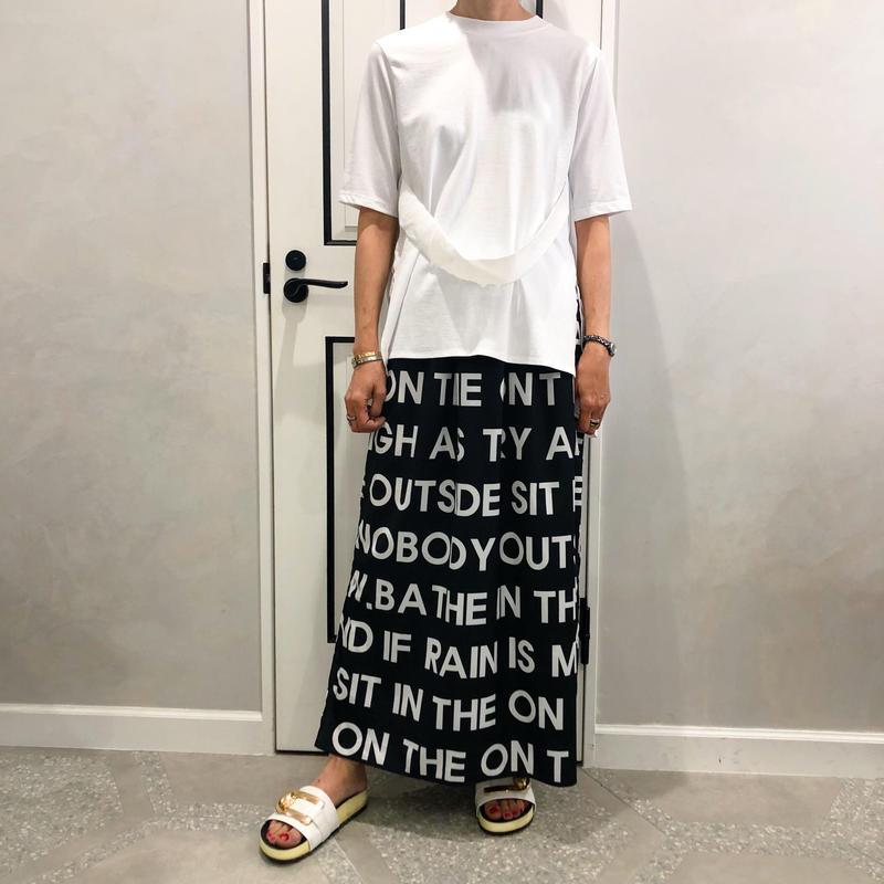 back pleats tshirt