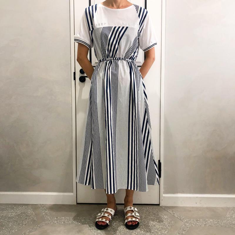 stripe tshirt onepiece