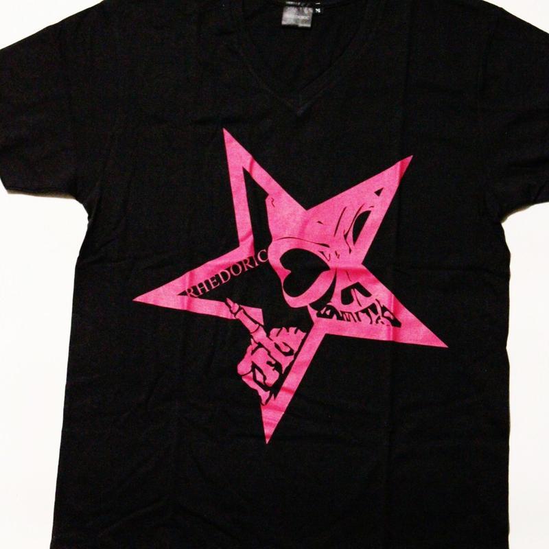 【Tシャツ】レドクロ STAR -ピンク-