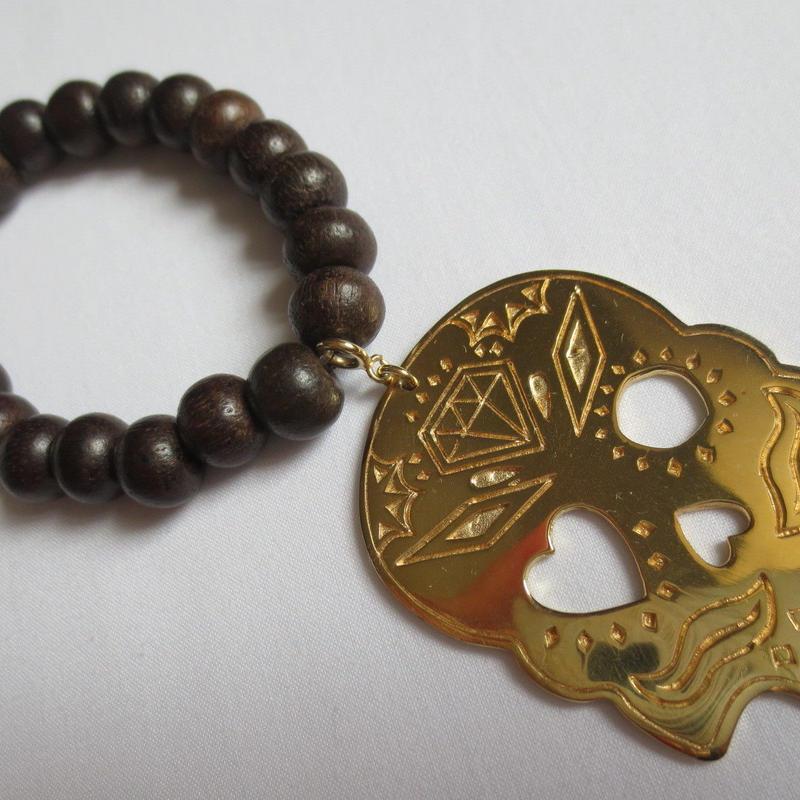 Kepala series - Skull Bracelet - Gold