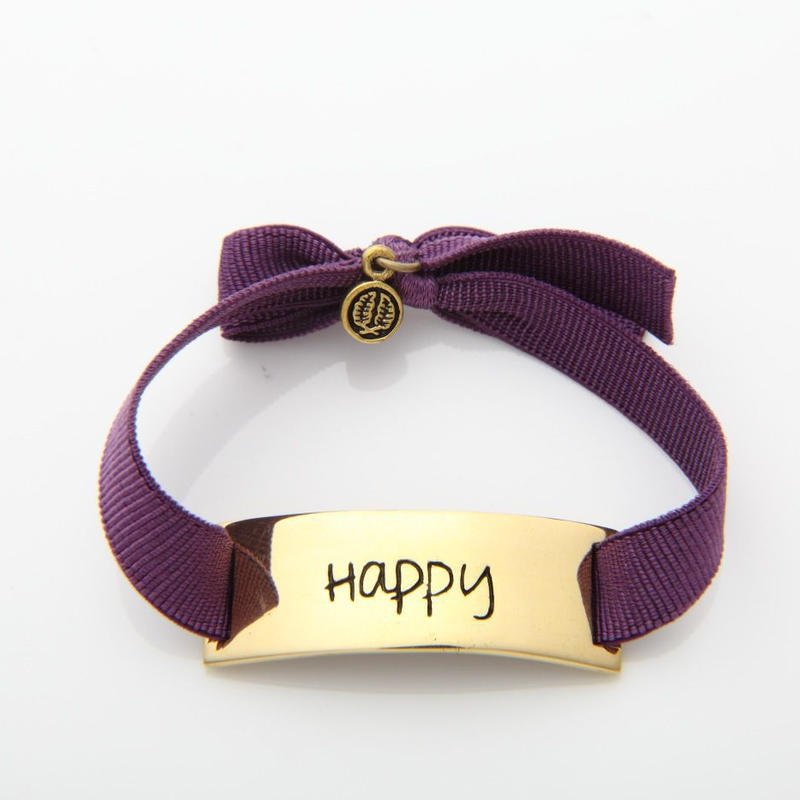 "Charm Bracelet ""Happy"" - Gold"