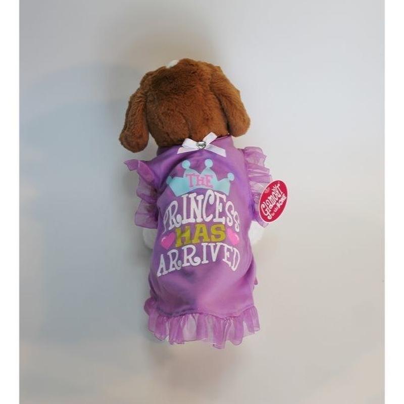ドッグウエア★小型犬★パープル&シフォンフリルワンピース