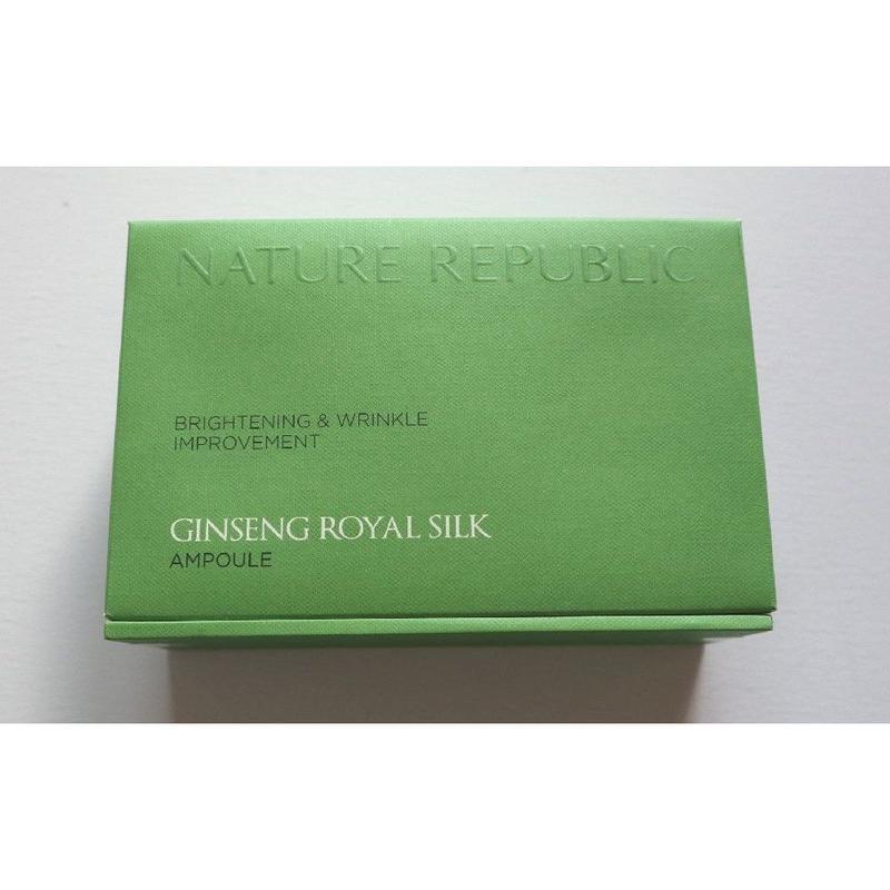 1セットのみ入荷★【ネイチャーリパブリック Nature Republic】 Ginseng Royal Silk ジンセン ロイヤル シルク アンプル 4本セット
