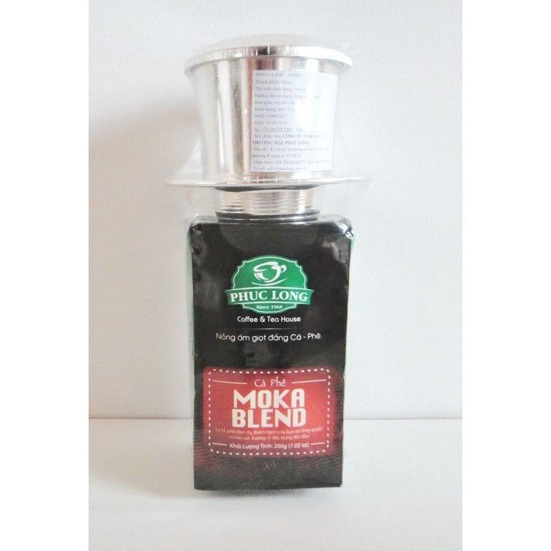 【ベトナムコーヒー】PHUC LONG フックロン コーヒー 200g MOKA BLEND モカ ブレンド ドリッパー付き